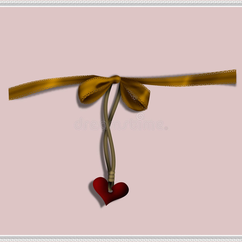 Download Heart and Bow stock illustration. Image of relationship - 18180775