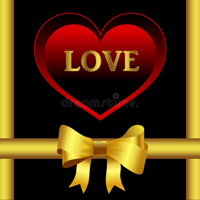 Heart And Bow Royalty Free Stock Images