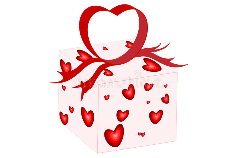 Heart Bow Present stock images