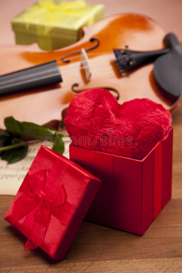 Heart in box! royalty free stock images