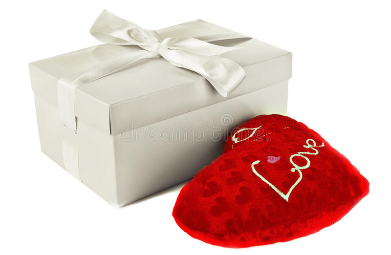Heart In A Box As A Gift Stock Images