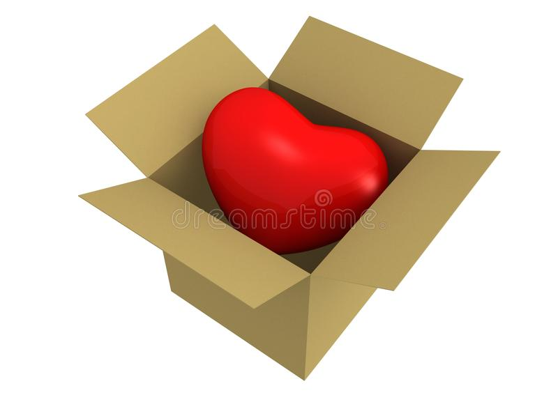 Download Heart In Box love concept stock illustration. Image of darling - 20680491
