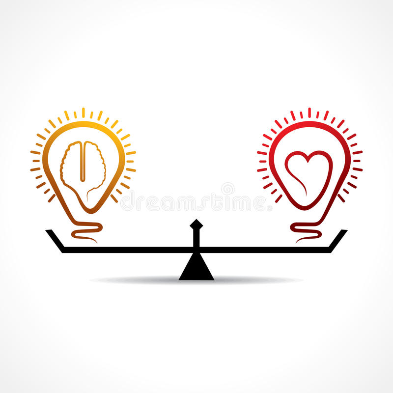 Heart And Brain Equality Concept Stock Photos