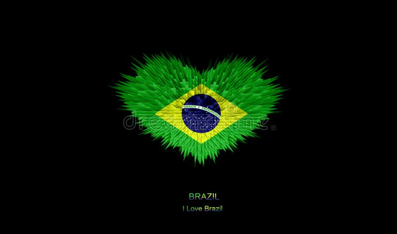 The Heart of Brazil Flag. royalty free stock images