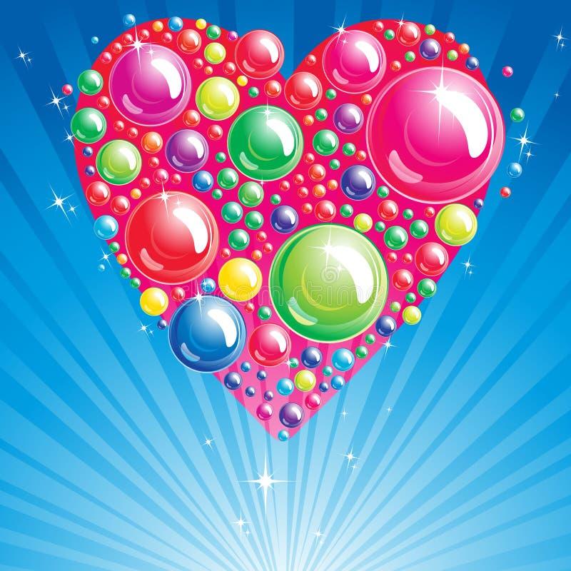 Heart Bubble background. vector illustration