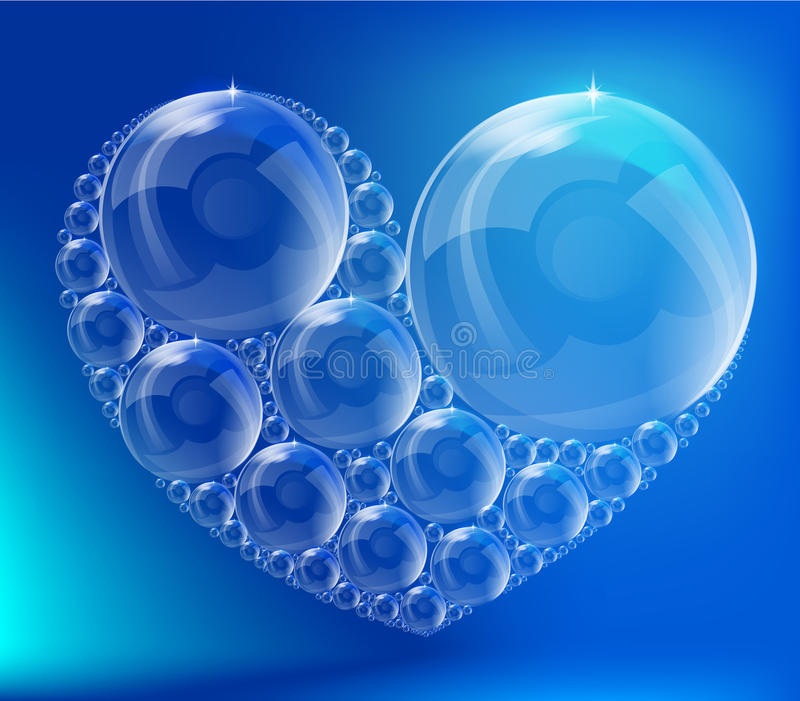 The heart of the bubbles stock images