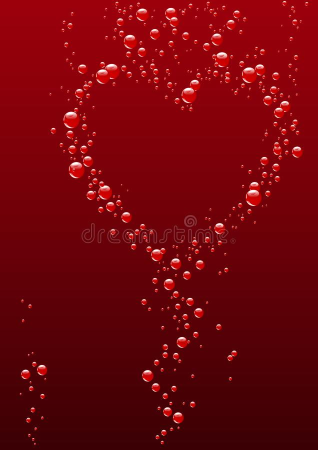 Heart from bubbles