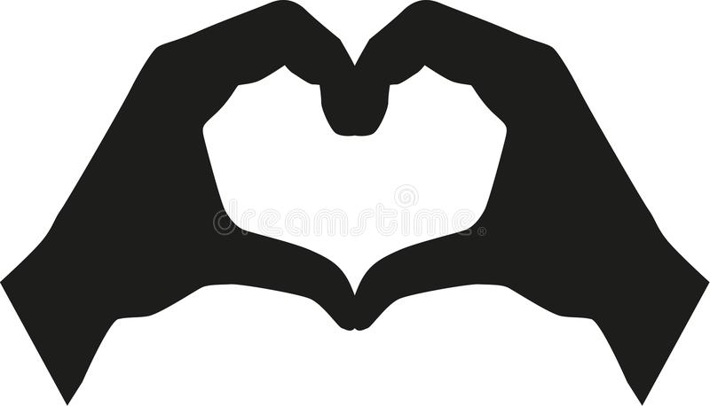Heart build of hands royalty free illustration