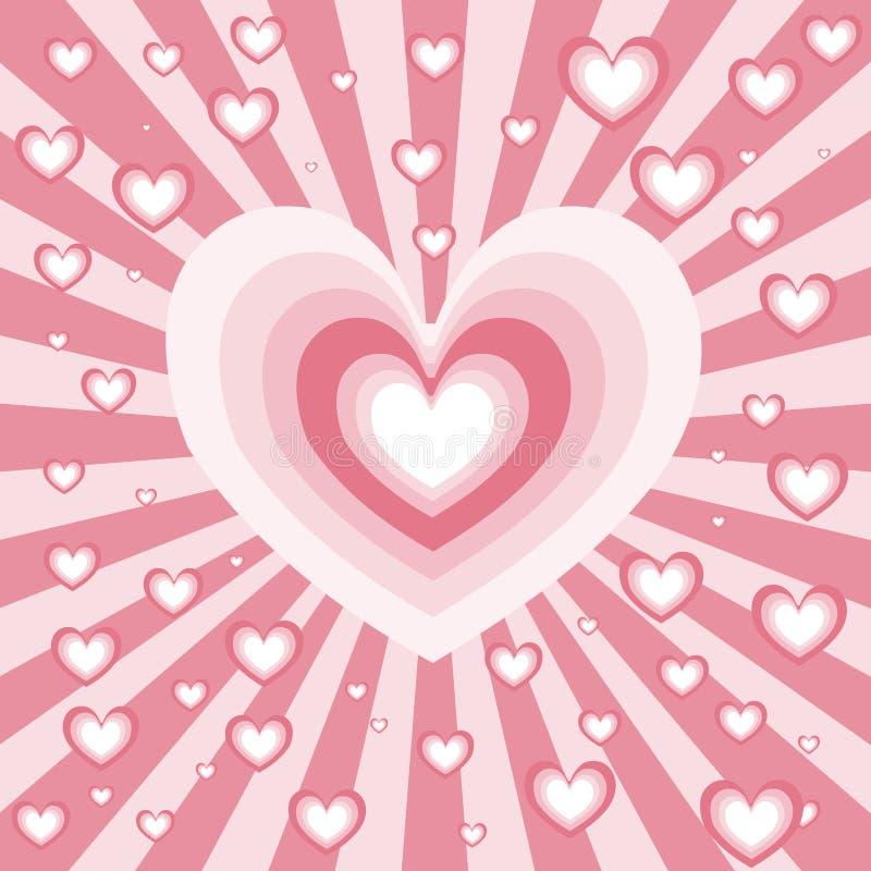 Heart burst stock illustration