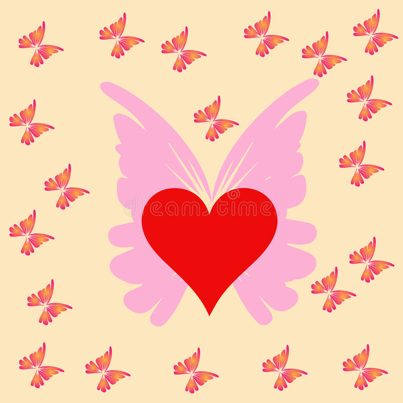 Download Heart and butterfly stock illustration. Image of butterfly - 32066645