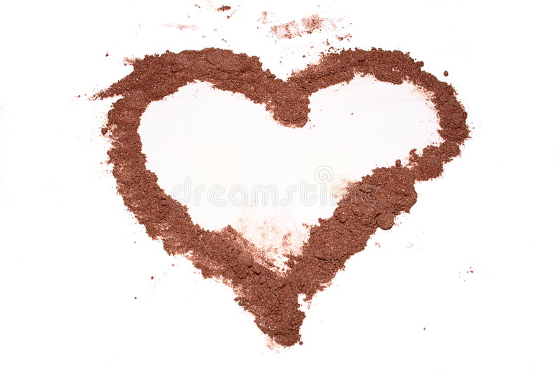 An heart of cacao royalty free stock photos