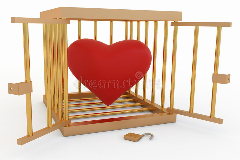 Heart in a Cage stock illustration