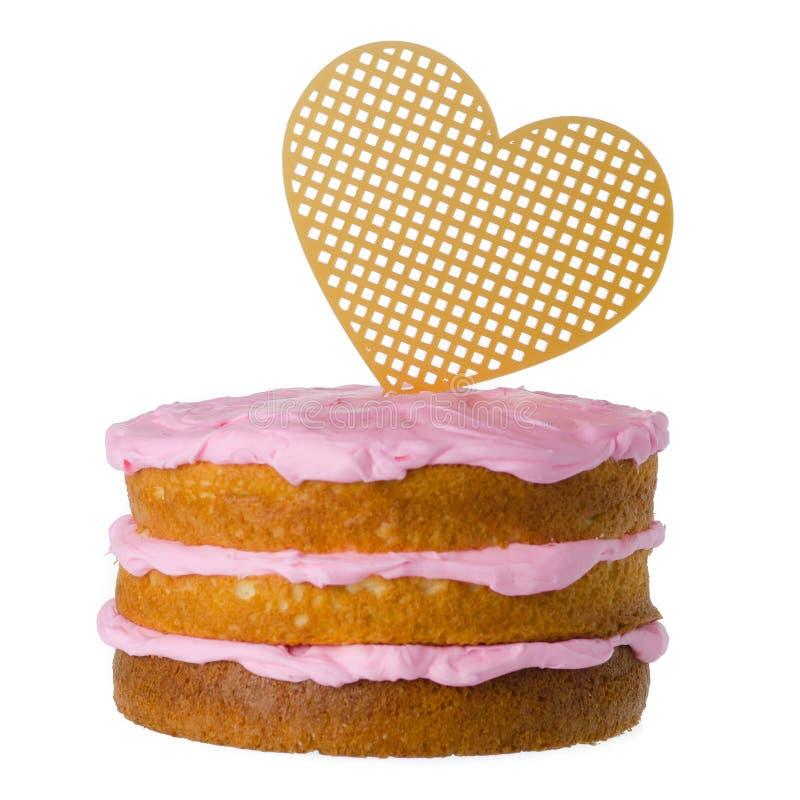 Heart Cake sign royalty free stock photo