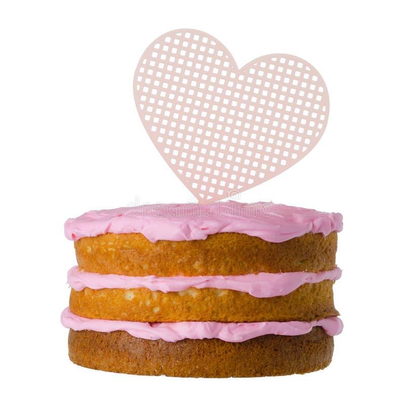 Heart Cake sign royalty free stock photos