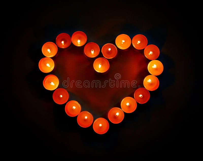Download Heart of candles stock photo. Image of glow, glowing - 28649510