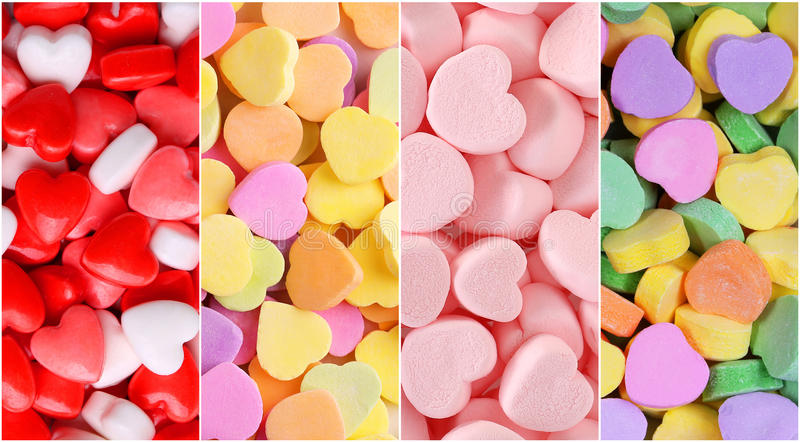 Heart Candy Background Collection. stock photo