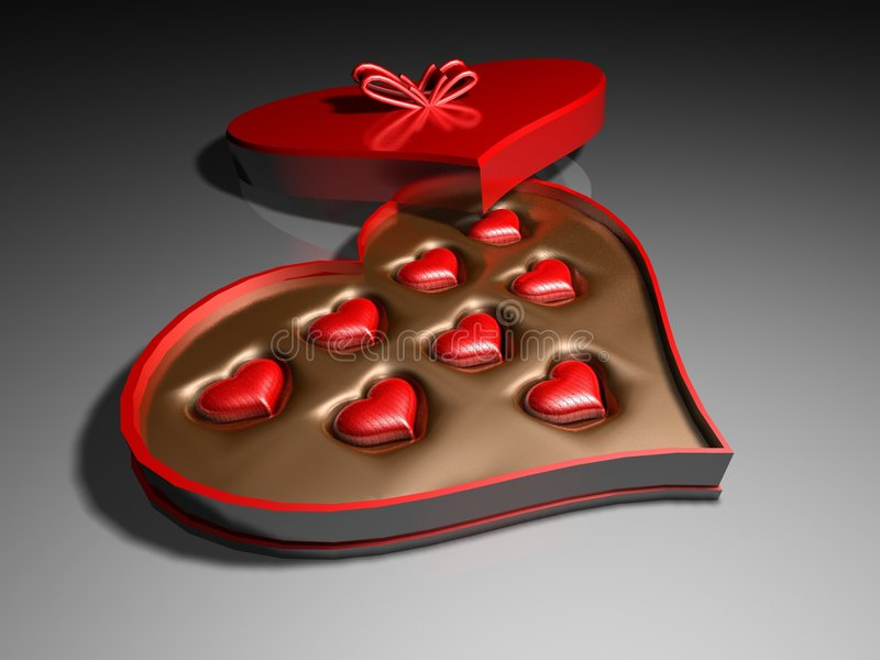Heart Candy Box stock photography