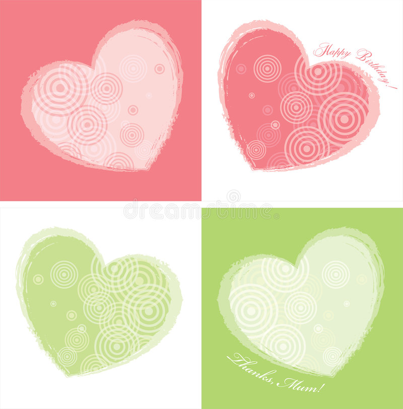 Heart Card Design(two colours) vector illustration