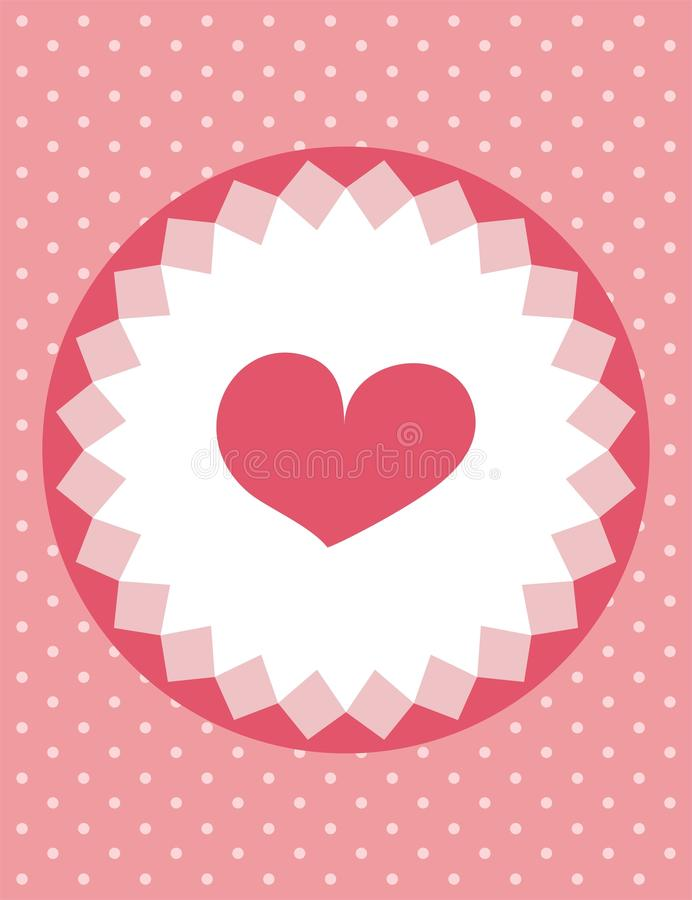 Heart card with polka dots background royalty free stock photo