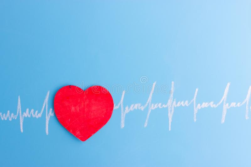 Heart and cardiogram royalty free stock images