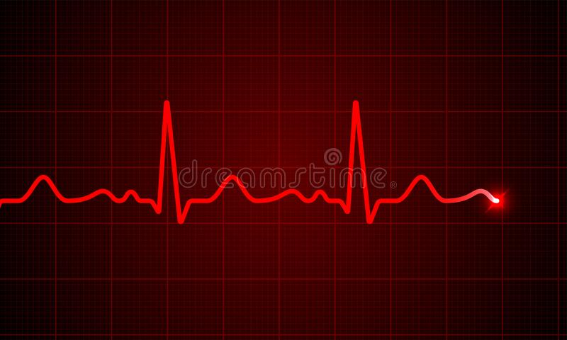 Heart cardiogram pulse vector screen background stock illustration