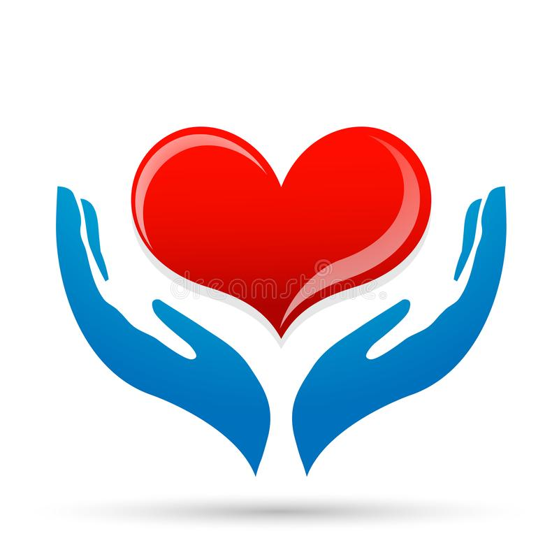 Free Heart Care Love Protect Save Compassion Hand Taking Care People Love Donation Heart Icon Element Vector Logo On White Background Royalty Free Stock Photos - 147567178