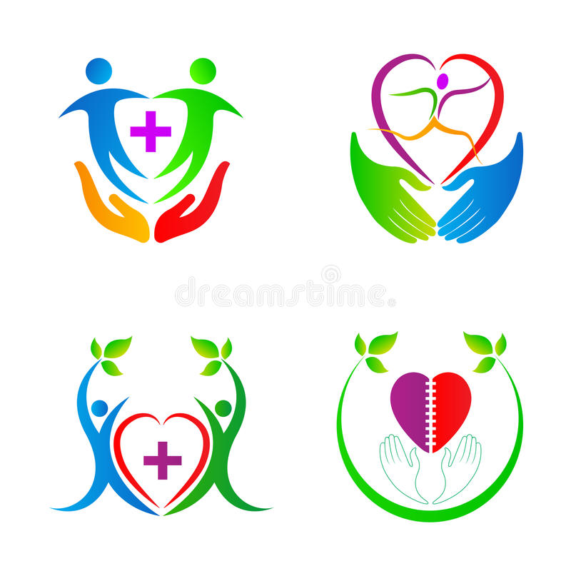 Heart care people vector illustration