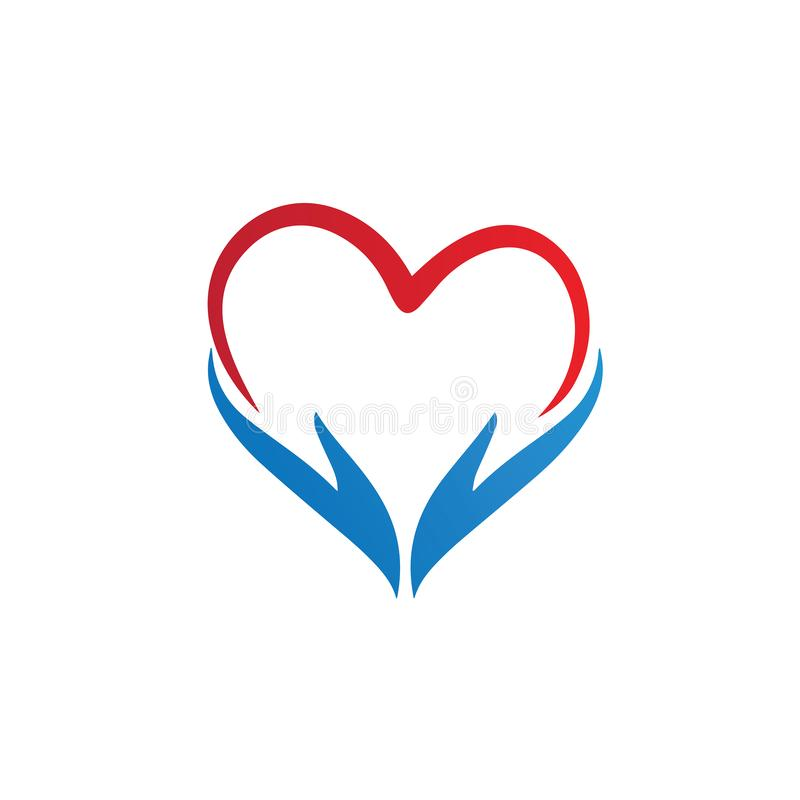 Heart Care Vector Logo abstract Template royalty free stock images