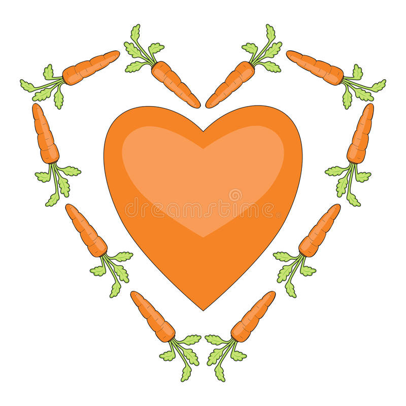 Download Heart With Carrots Royalty Free Stock Image - Image: 17911276