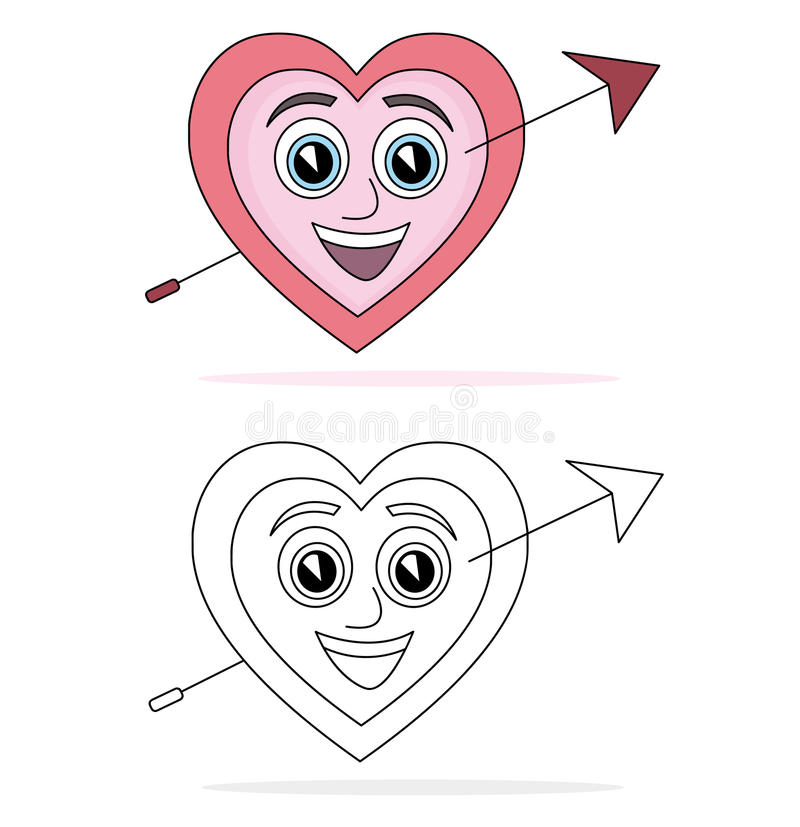 Download Heart cartoon stock illustration. Illustration of love - 16357232