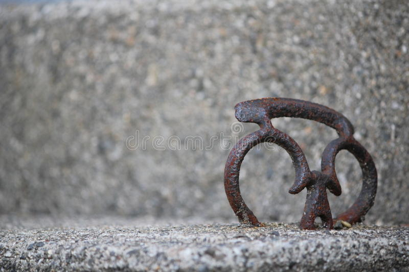 Heart in Cement royalty free stock image