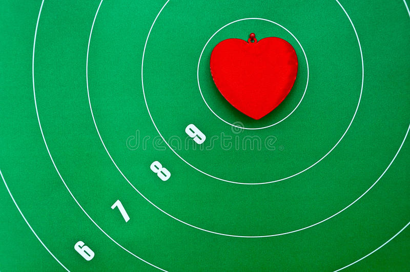 Download Heart In The Center Of The Target Stock Image - Image: 23300027