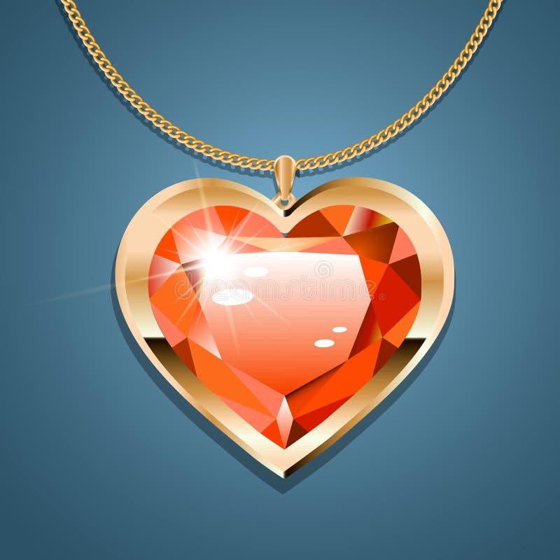Heart chain vector2 stock illustration