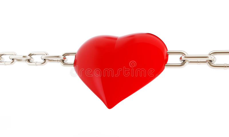 Download Heart in chains stock illustration. Image of bonding - 31954418