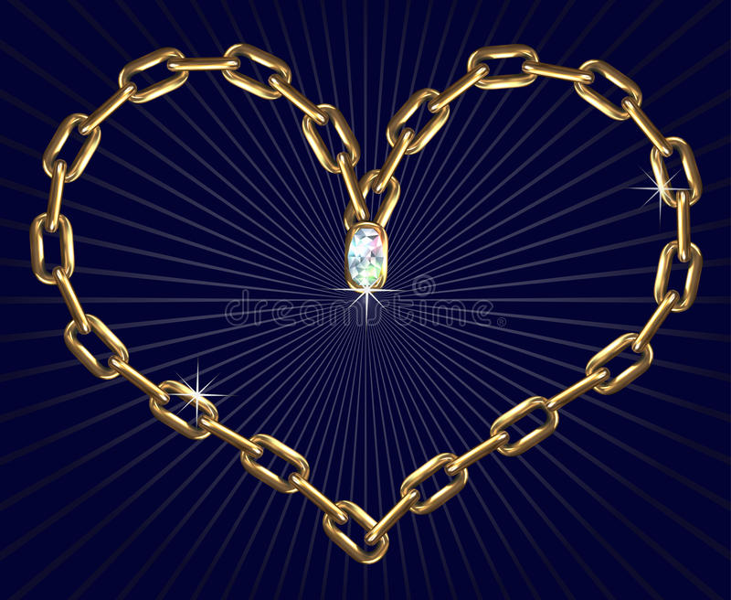 Heart with chains vector illustration