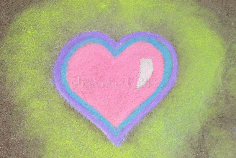 Heart in chalk vector illustration