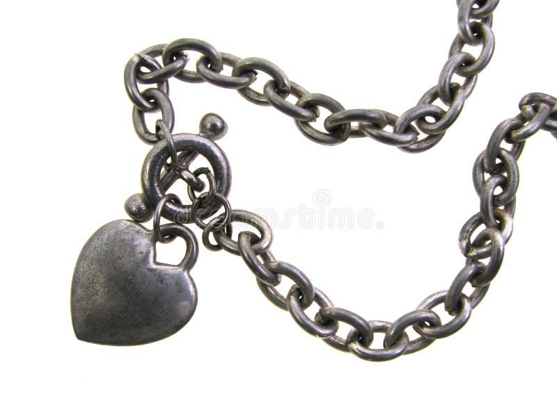Heart Charm Bracelet Stock Photos