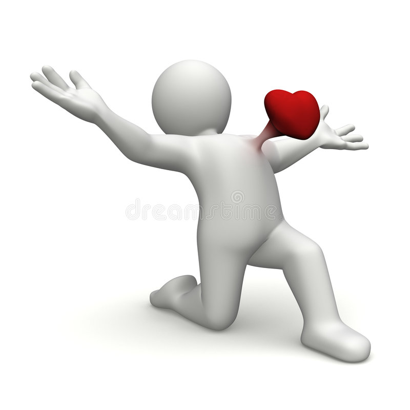 Heart in the chest stock illustration