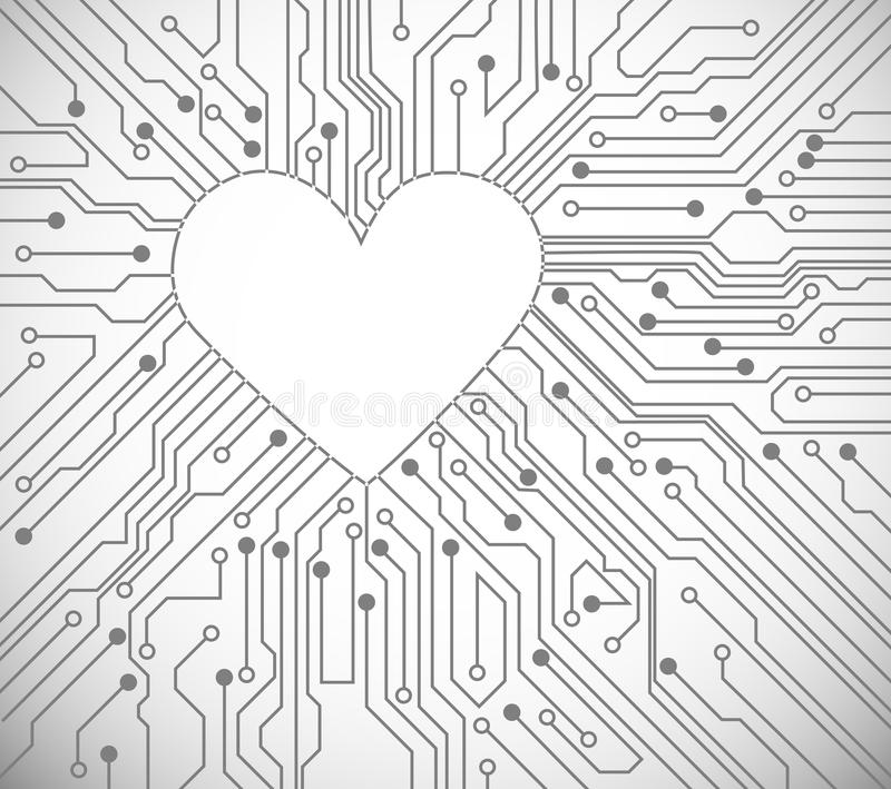 Download Heart from circuit stock vector. Illustration of macro - 22675309