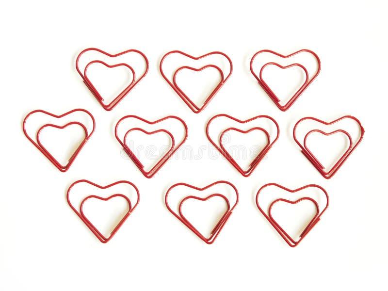 Heart clip. On white background stock illustration