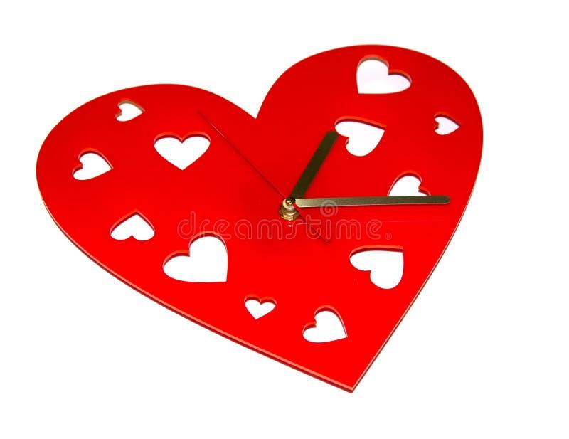 Heart clock stock image