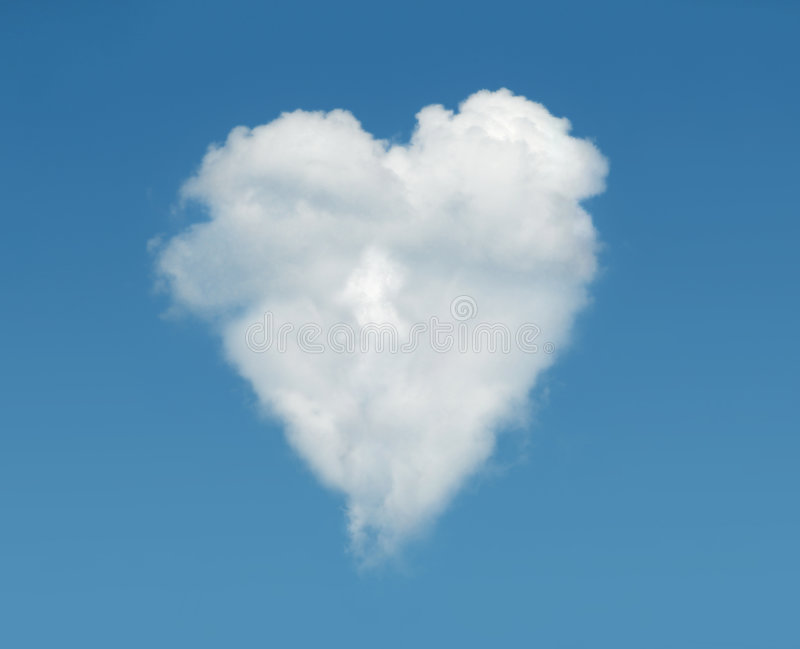 Download Heart cloud stock photo. Image of symbol, valentines, formation - 5156376