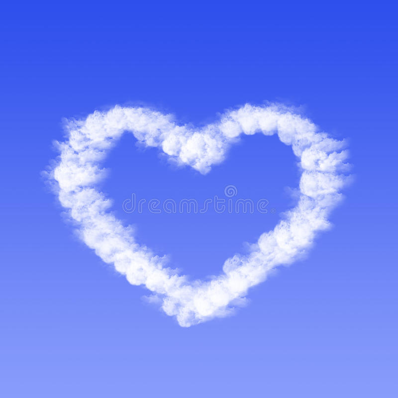 Heart from cloud royalty free stock photos