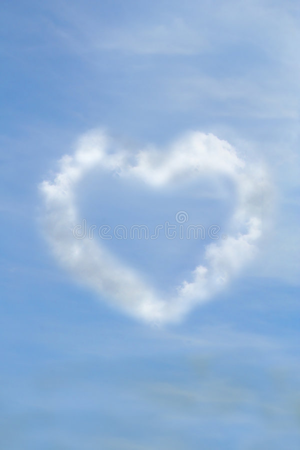 Heart in clouds royalty free stock images