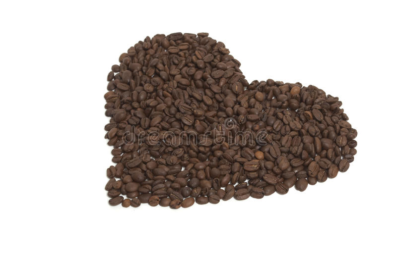 Heart of coffe royalty free stock images