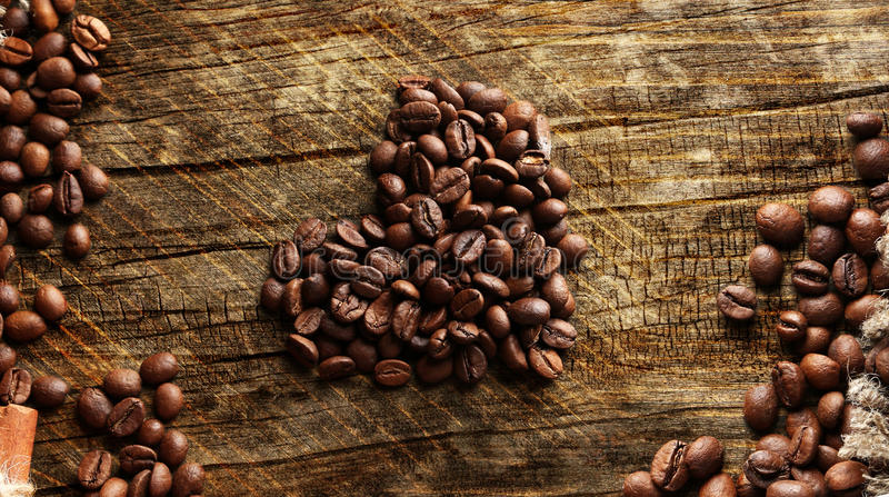 A heart of coffee royalty free stock photography