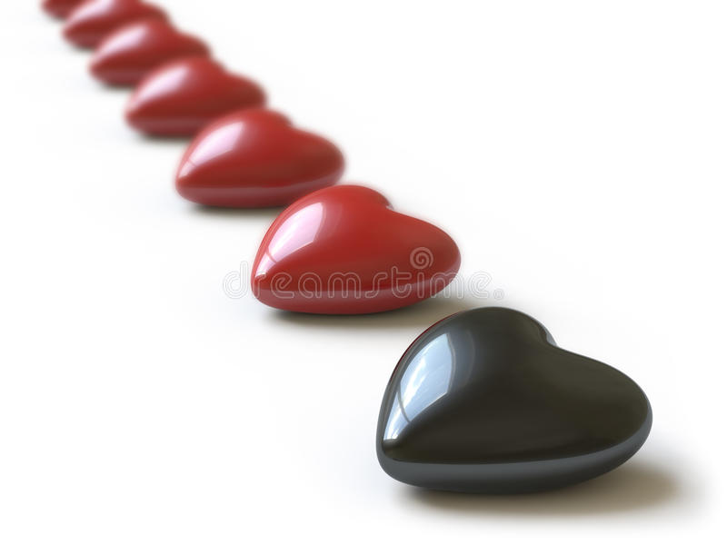 Heart collection - push here stock images
