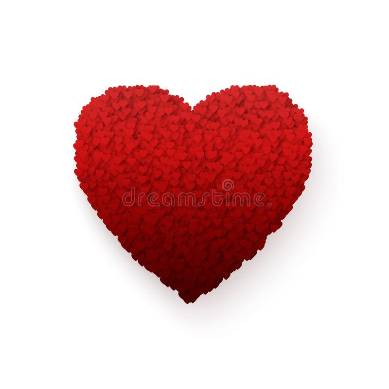 Heart. Colorful Heart frame. Romance Valentines day vector illustration isolated on white background.  vector illustration
