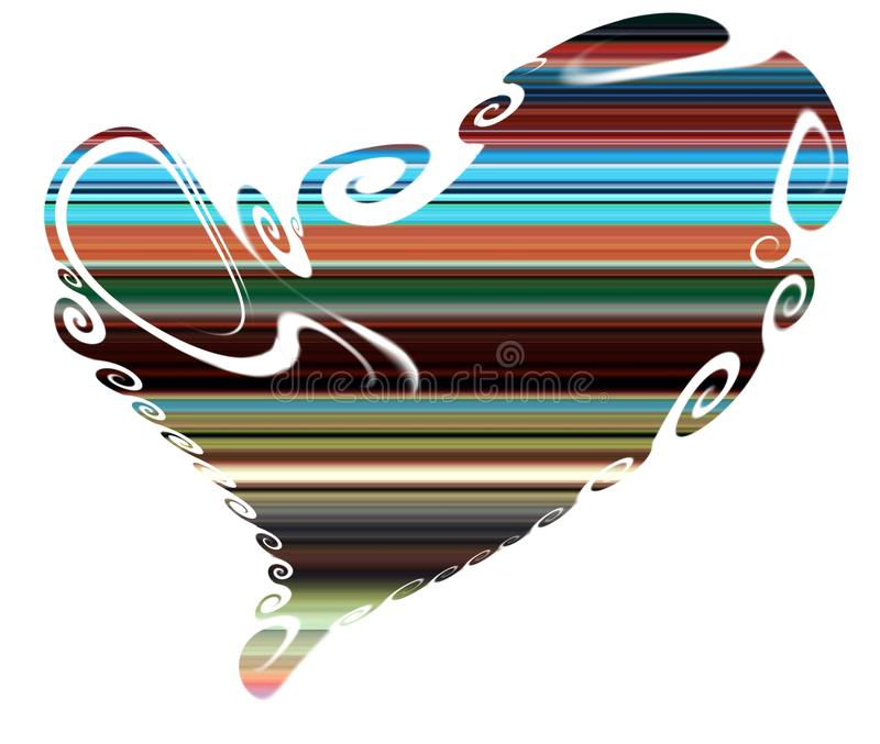 Heart. Colorful isolated heart, shapes royalty free stock image