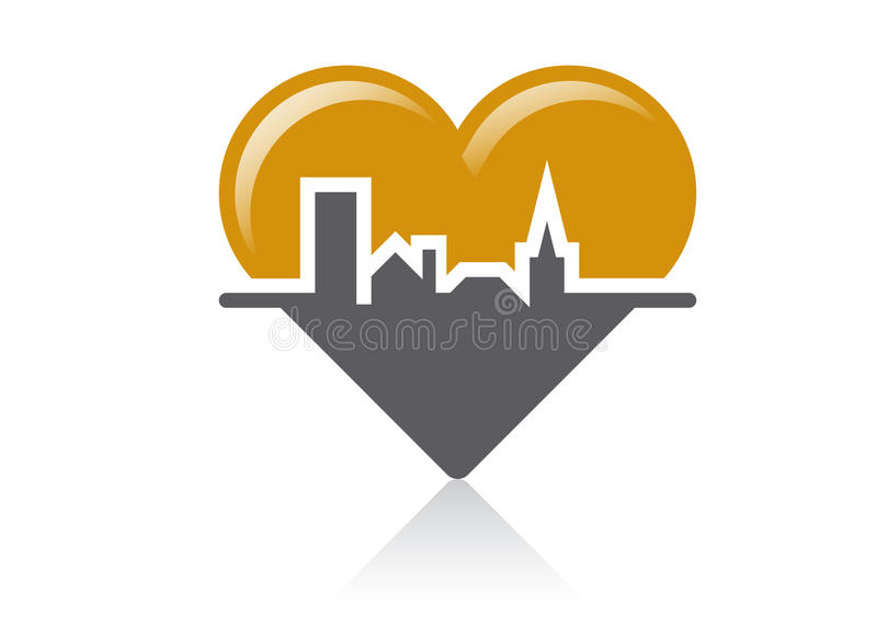 Download The heart of the community stock vector. Illustration of district - 21324445